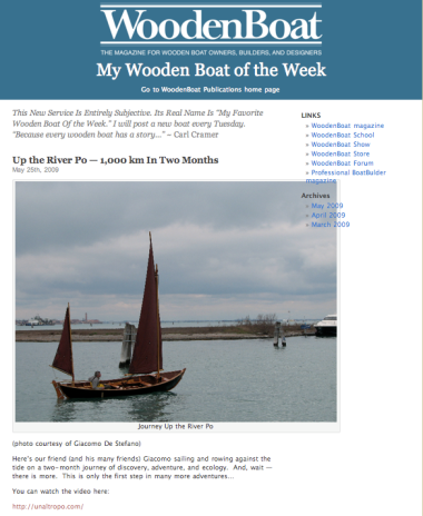 Wooden Boat boat of the week